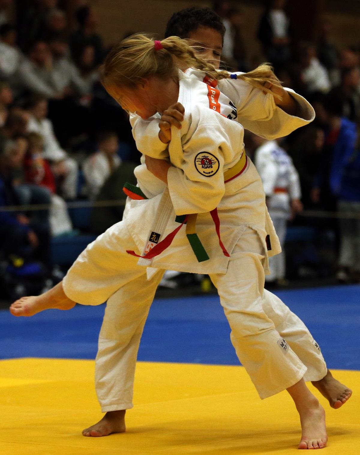 Kayleigh in actie © De Judofotograaf
